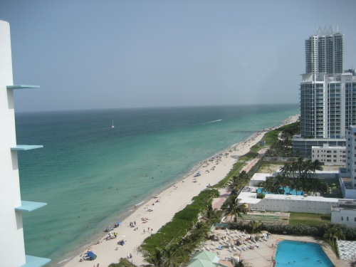 View from our Hotel in Miami Beach