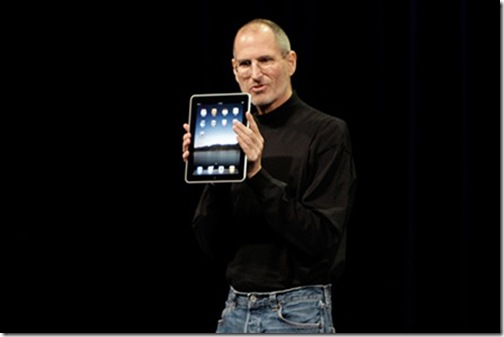 Steve Jobs con el iPad